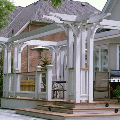 Mississauga Decks with glass and pergola