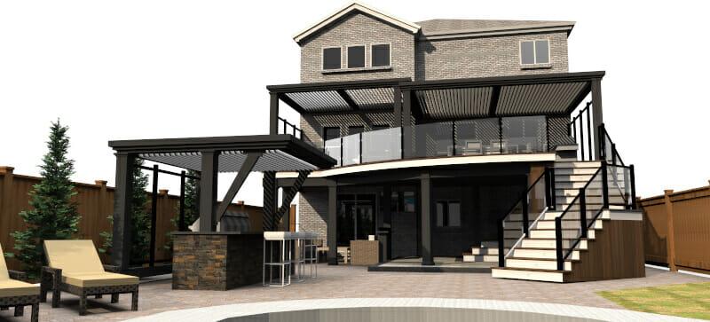 Modern Deck Design -Deck Builders Hamilton Burlington