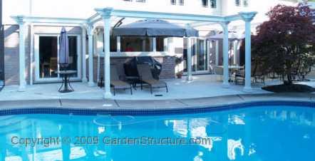 pool pergola on patio