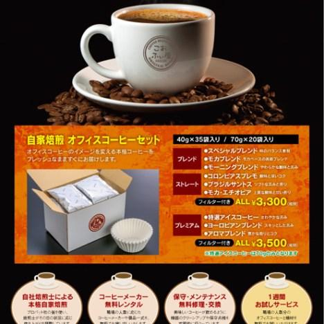 コーヒー豆販売店チラシ