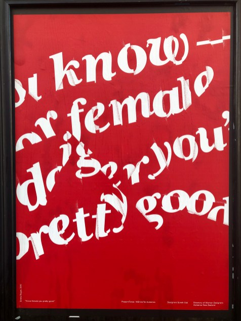 Know female you pretty good. / poster, Emma Rogan