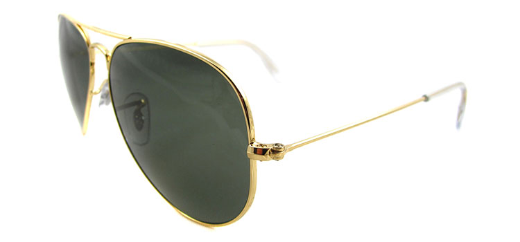 f47736dad9b ... where to buy ray ban aviator polarized sunglasses rb3025 001 58 gold  with crystal green polarized ...