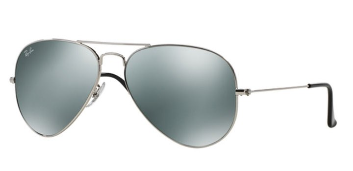 Ray Ban Large Aviator Sunglasses RB3025 W3277 Silver