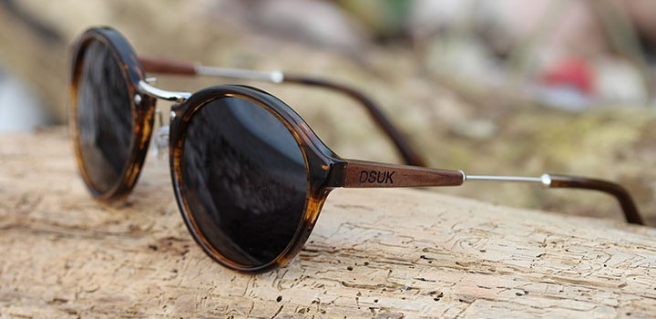 Ladies Polarized Acetate and Walnut Wooden Sunglasses | DSUK Woods