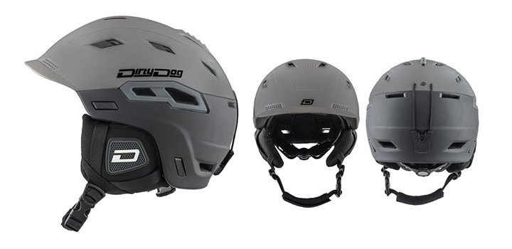 Dirty Dog Ski Helmet Crater | Shiny Tungsten Black