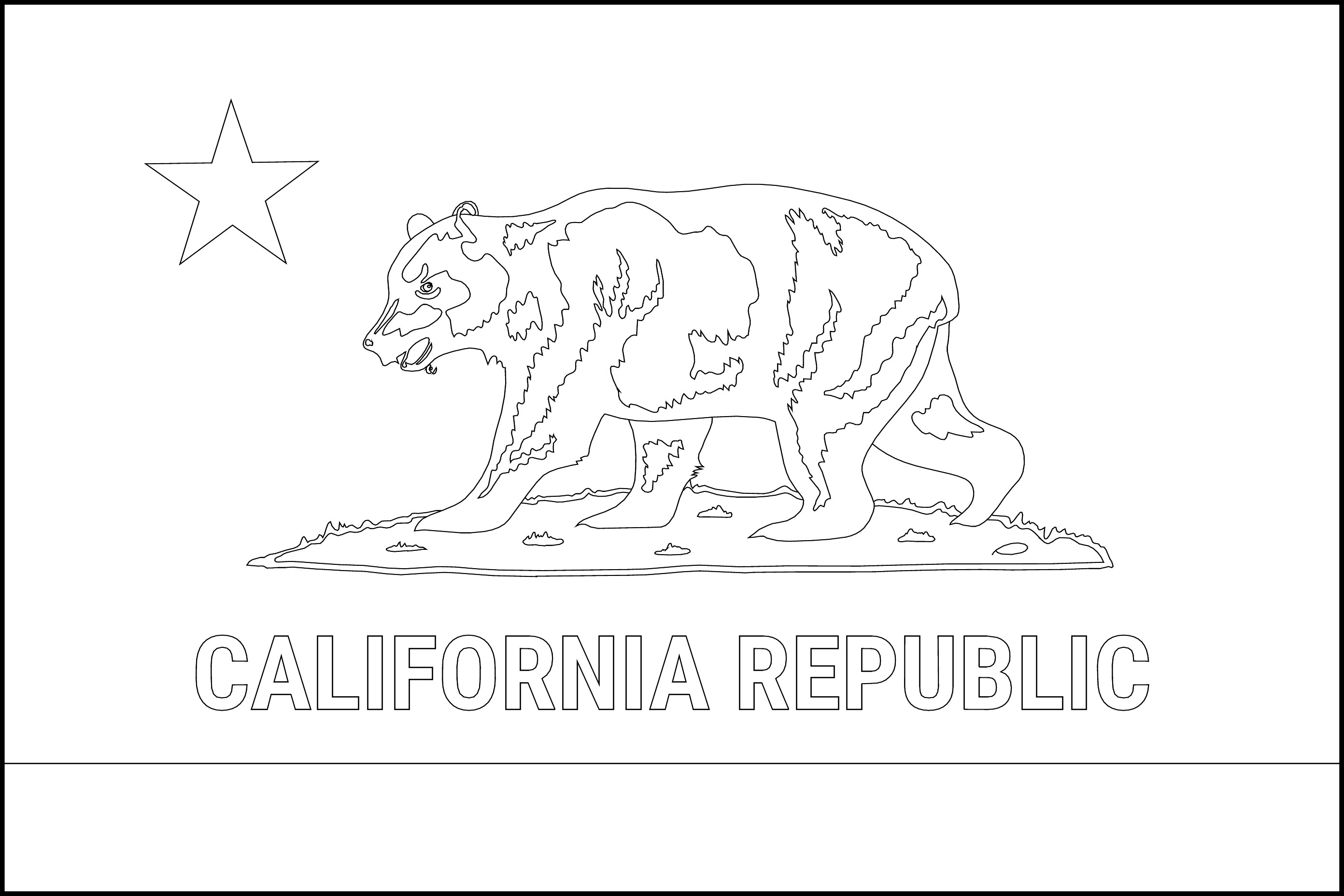 Free Printable California State Flag Amp Color Book Pages