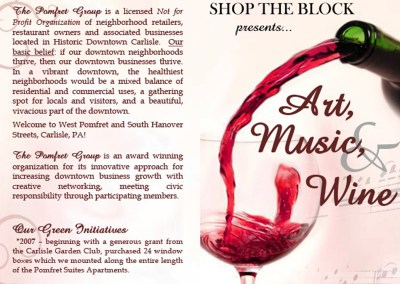 Art, Music, & Wine Walk Brochure