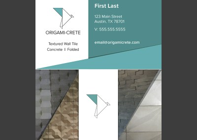 Origami-Crete Business Cards