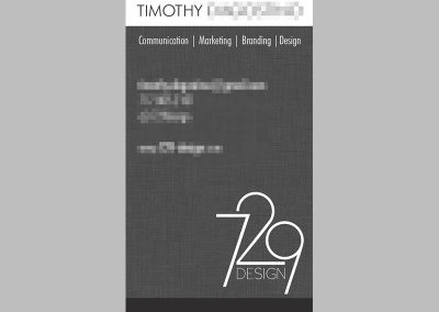 729 Design Business Cards