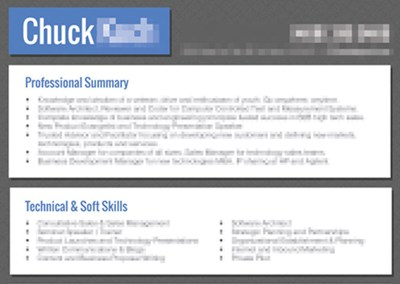 Chuck – Resume