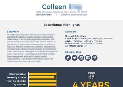 Colleen – Resume