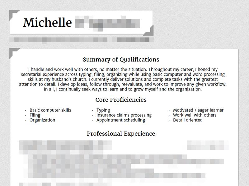 Michelle – Resume
