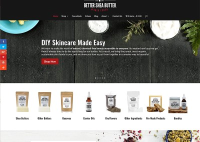 Better Shea Butter Website