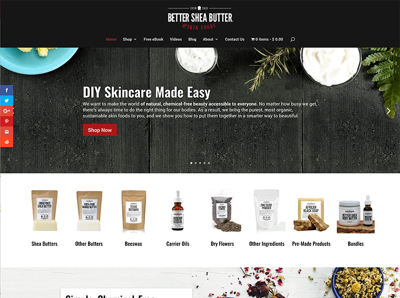 Better Shea Butter Website