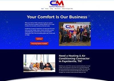 Comfort Masters Website