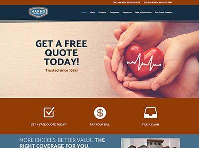 Harms Insurance Website