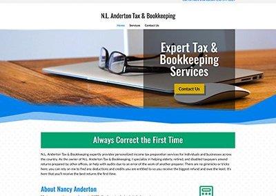 N.L. Anderton Tax & Bookkeeping Website