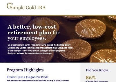 Simple Gold IRA One Sheeter