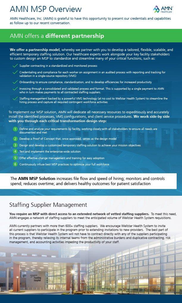 AMN MSP brochure Firebrand Design & Business Solutions in Safety Harbor, FL