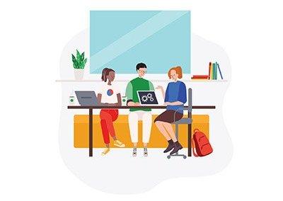 Google Cloud for Education Illustration