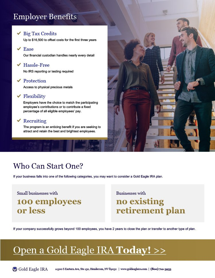 Simple Gold IRA brochure Firebrand Design & Business Solutions in Safety Harbor, FL