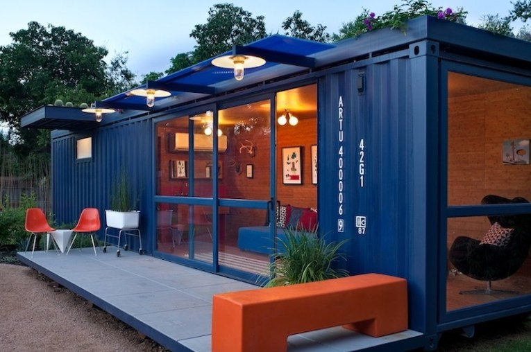 Shipping Container Homes   Design for Me Container Guest House in San Antonio by Poteet