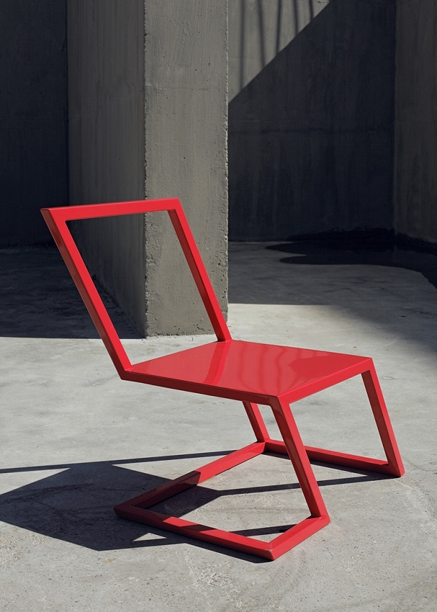 contemporary red chair xyz integrated architecture design