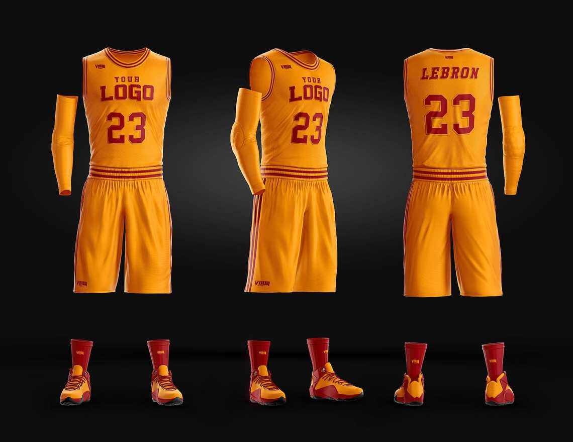 Download Basketball Uniform Jersey Mockup Freebie - DesignHooks