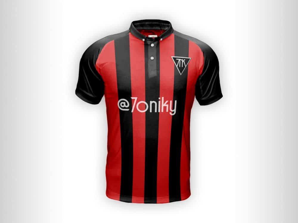 Download Soccer Shirt Free Mockup (With Smart Object) - Design Hooks