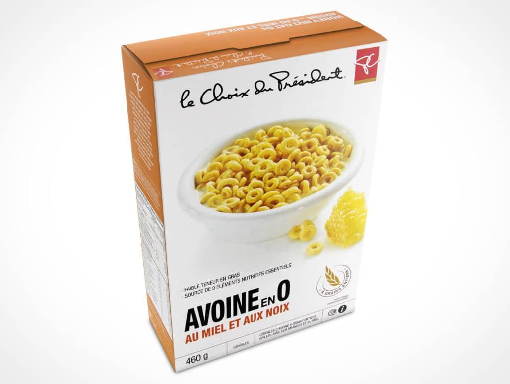 Download Free Cereal Box Design Mockup in PSD - DesignHooks