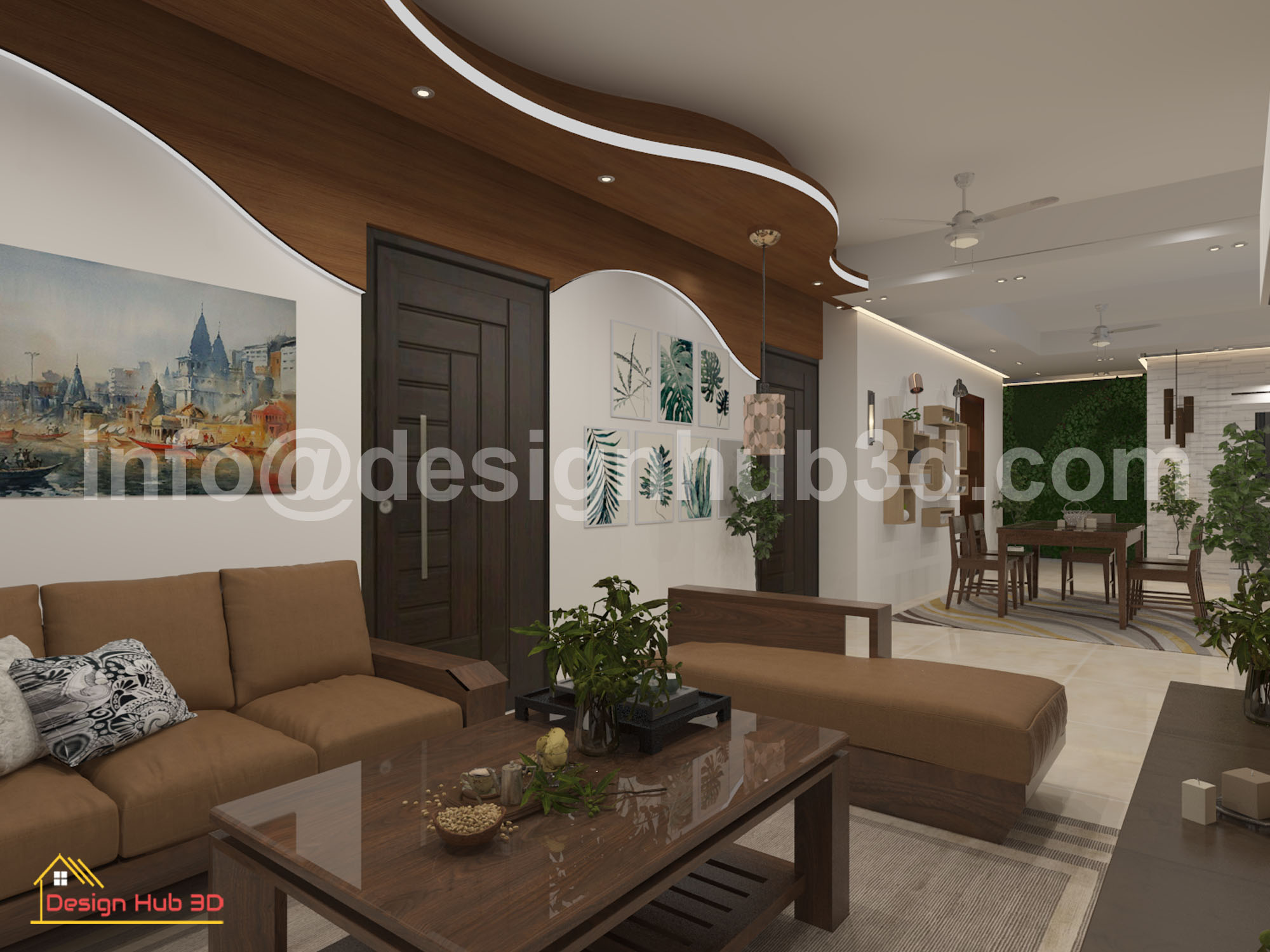 DesignHub 3D-Living Interior, Living Decor