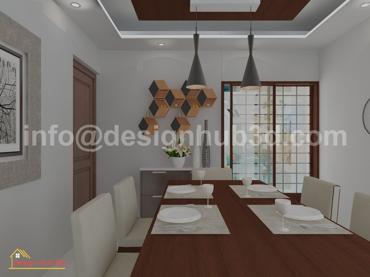 DesignHub 3D-Dining room interior, Dining Interior, Dining Decoration, Interior Design