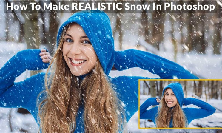 How to Create SNOW in Photoshop - Make REALISTIC Snow In Photoshop