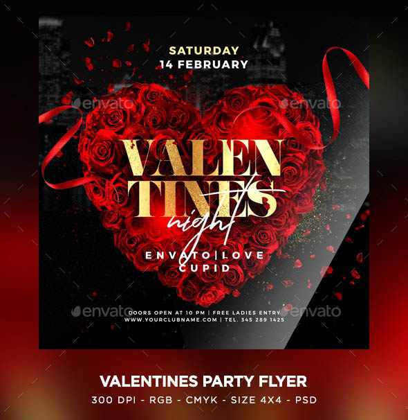 Awesome Valentines Party Flyer