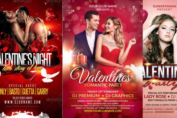 Top 10 Valentine Party Poster | Party Flyer | Social Media Post Design