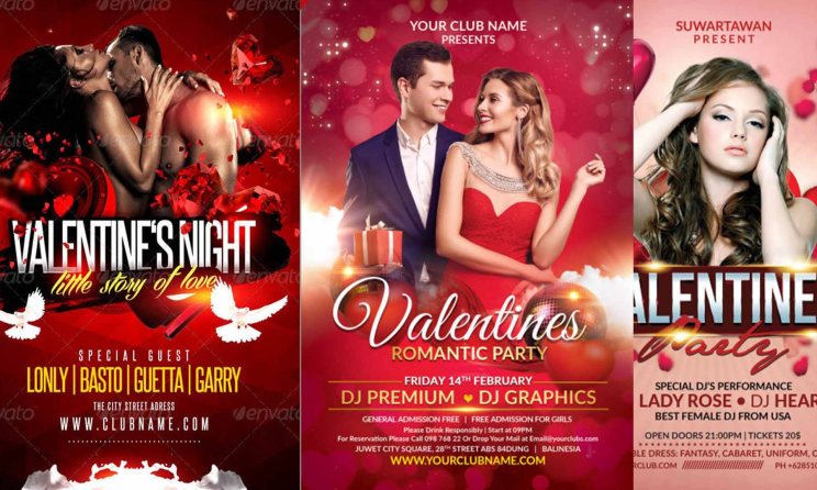 Top 10 Valentine Party Poster - Party Flyer - Social Media Post Design