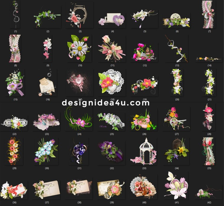 100+ PNG Clipart for Wedding Album Design in Photoshop Free Download