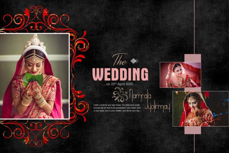 DM Wedding PSD Template Free Download - 12X18 PSD Template
