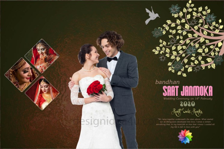DM Wedding PSD Template Free Download - 12X18 PSD Template