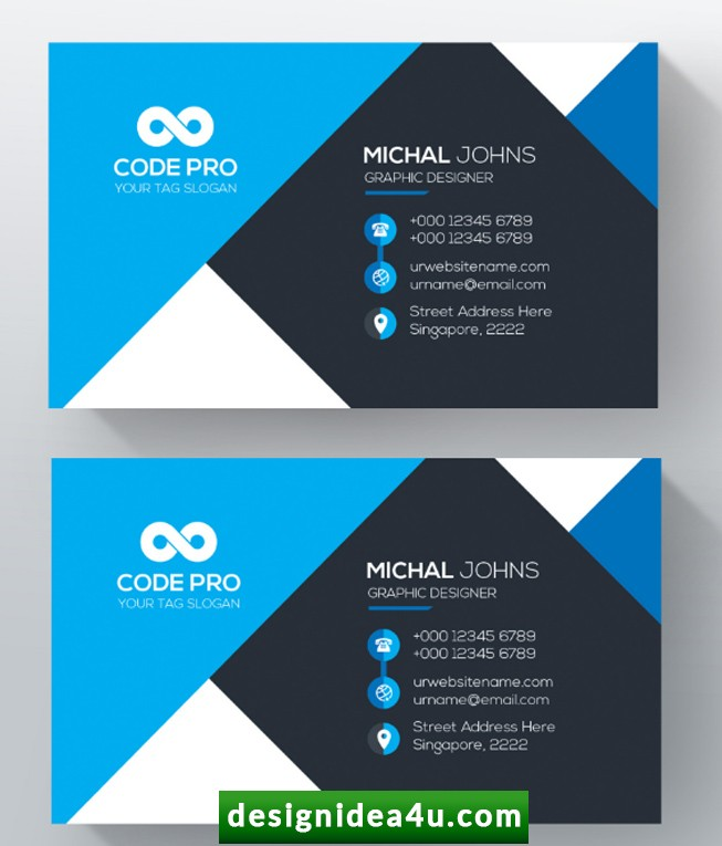 Multipurpose Corporate Business Card PSD Free Download