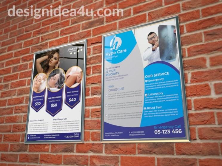 Wall Flyer Mockup PSD Free Download - Free Flyer Mockup