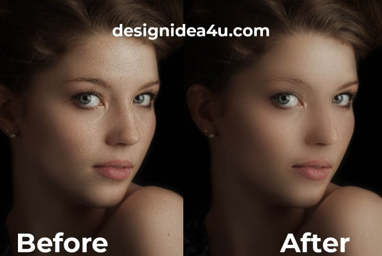 JUST 30 SECONDS - Free High End Skin Retouching Photoshop Action