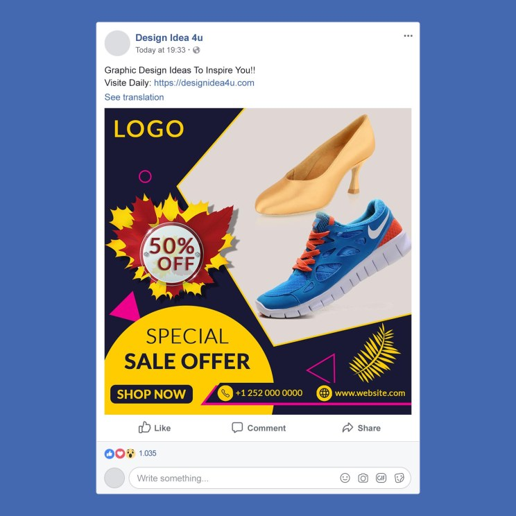 Facebook post Preview - Special Shoes Social Media And Instagram Post PSD Template