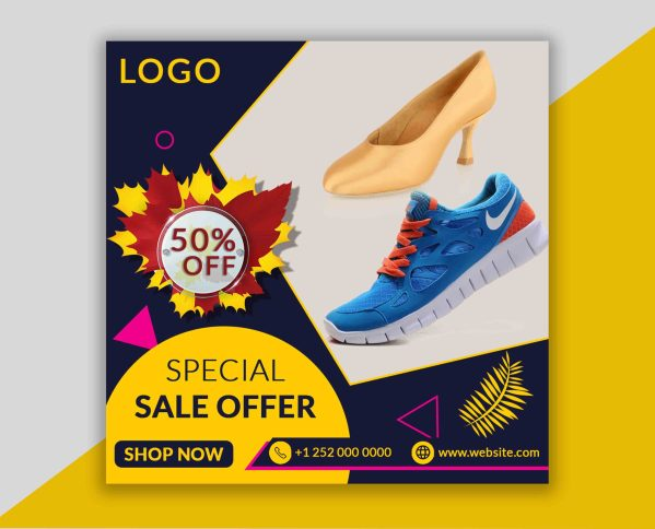 Special Shoes Social Media And Instagram Post PSD Template