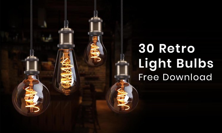 Best 30 Retro Light Bulbs PNG Free Download