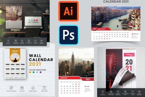 Calendar 2021 | Top 5 Wall Calendar Design Templates 2021