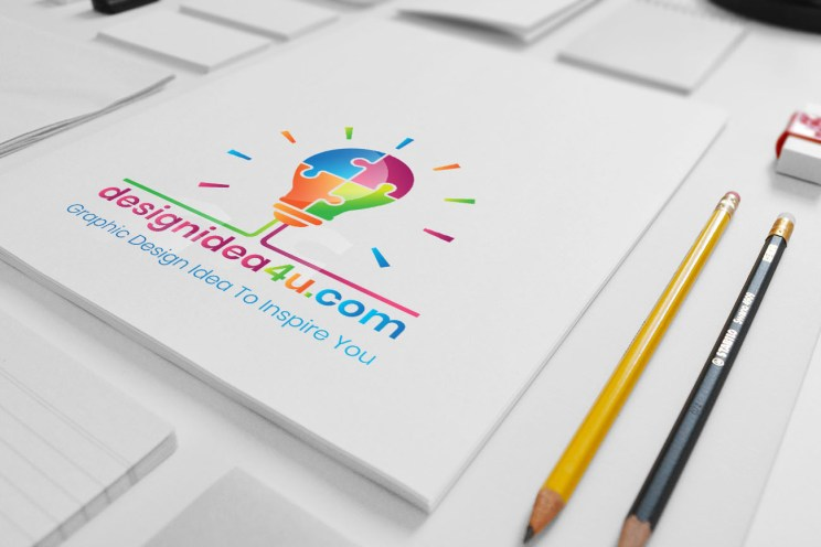Hand Drawn Logo Mockup, Sketch Logo Mockup, Free Download