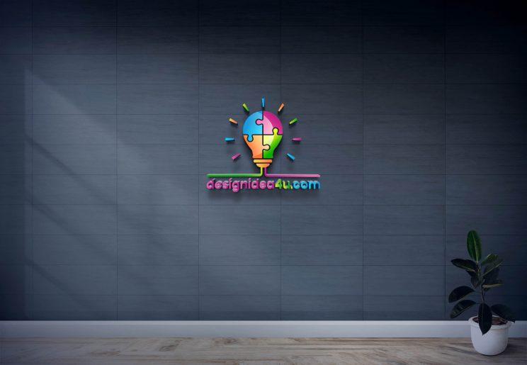 New 3D Glass Window Logo Mockup PSD Free Download