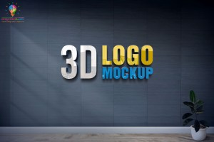 New 3D Glass Window Logo Mockup PSD Free Download