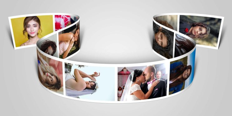 3D Photo Strip Photorealistic PSD Template Free Download